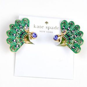 kate spade peacock earrings